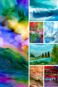 Alcohol Ink Painting Inspiration