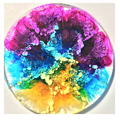 Alcohol ink Resin Coasters