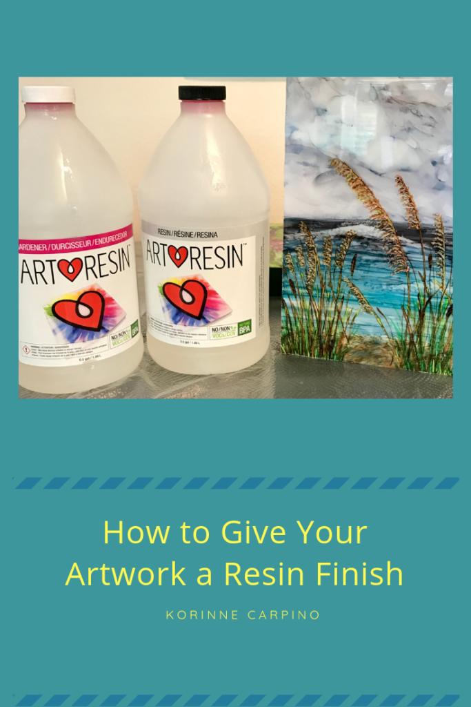 Resin Art for Beginners - If you want to finish your art with Resin, this post will tell you what you need. There's also a video with step-by-step tutorial.