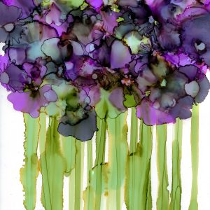 Abstract Purple Violet Print