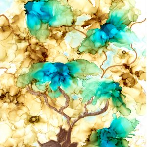 Abstract Floral bonsai