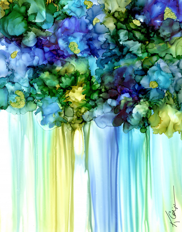 Blue Violets Print