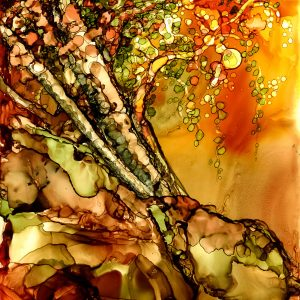 whimsical autumn tree IV art print