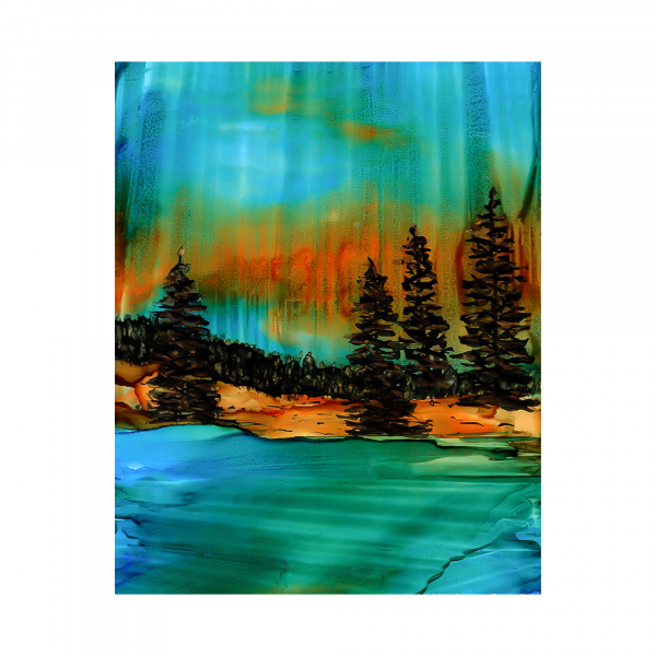 Soulful Forest Alcohol Ink Art Print