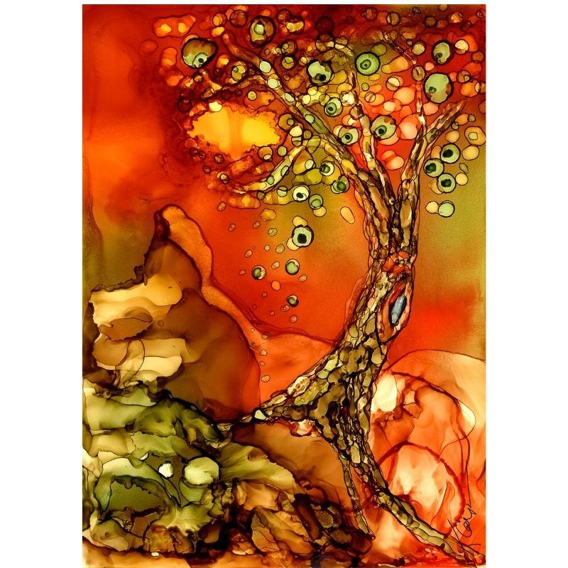 Alcohol Ink Tree