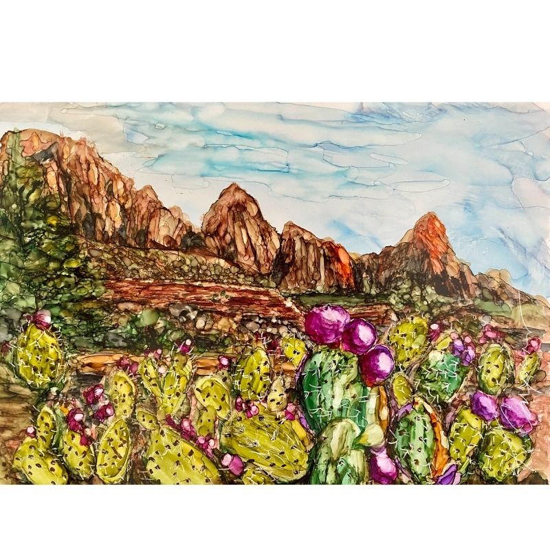 Alcohol Ink Desert Painting